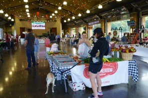 Belle Meadow Farm sells a lot of produce and flowers at Tuscaloosa River Market. (Mark Sandlin/Alabama NewsCenter)