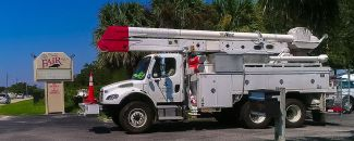 Alabama Power crews help restore remaining power outages in Florida. ( (Photo courtesy of Melissa Matisko)
