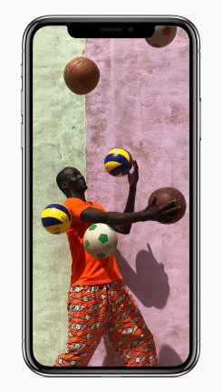 The new camera in iPhone X features a larger and faster sensor, new color filter, deeper pixels and OIS for capturing vibrant photos and videos with more detail. (Apple Inc.)