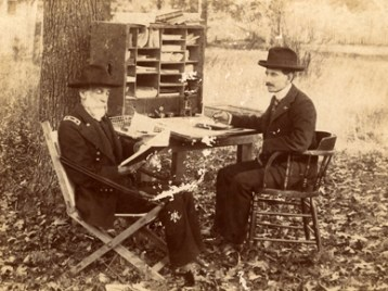 Joseph Wheeler and his secretary L.K. Wilson at Camp Wheeler, Huntsville, during the Spanish-American War. (From Encyclopedia of Alabama, courtesy of Alabama Department of Archives and History)