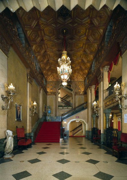 Grand lobby, Alabama Theatre, Birmingham. (HABS, Library of Congress Prints and Photographs Division)
