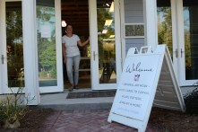 Blume-Cantrell likes her space in the Coastal Arts Center of Orange Beach. (Karim Shamsi-Basha / Alabama NewsCenter)