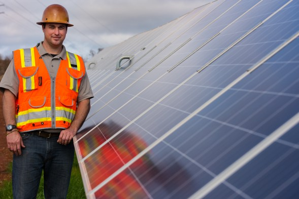 Kevin Winchell is field service manager for Clenera, the Idaho-based company that operates the new solar facility. (Phil Free / Alabama NewsCenter)
