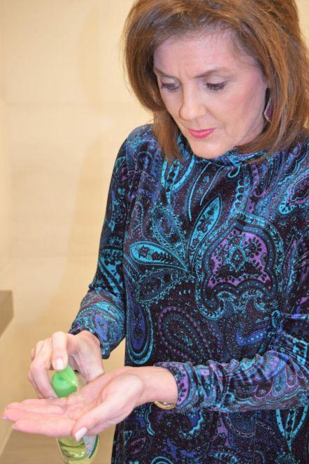 Apply hand sanitizer liberally. (Donna Cope/Alabama NewsCenter)