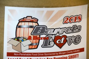 The Barrels of Love food drive kicks off on Valentine's Day in Morgan County. (Karim Shamsi-Basha / Alabama NewsCenter)