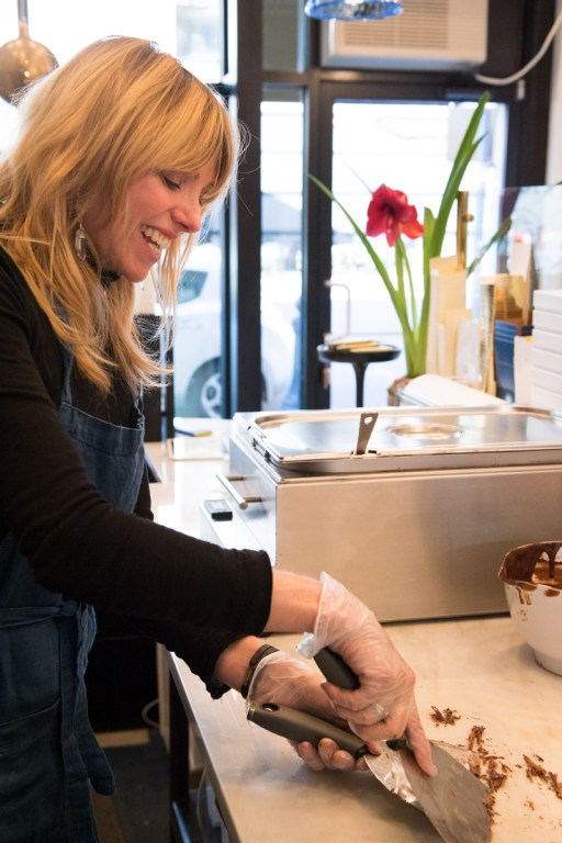 Kathy D'Agostino has brought a passion and creativity to inventing new flavors with chocolate at Chocolatá. (Phil Free / Alabama NewsCenter)