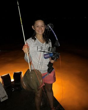 Student reels in a rather unique catch as part of the curriculum of the Outdoor Scholars Program. In order to pay for these trips, a variety of sponsors have helped to support. (Contributed)