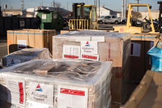 Another round of supplies and materials which will await Alabama Power crews headed back to Puerto Rico. (Alabama Power file)