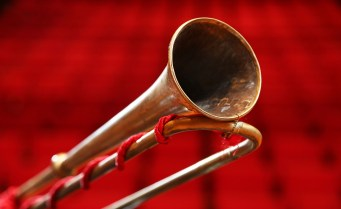 The absence of valves makes a natural trumpet more difficult to play than a modern trumpet and results in a different tone. (University of South Alabama)