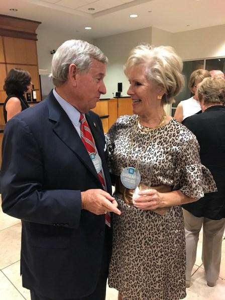 Montgomery Mayor Todd Strange with Barbara Larson. (contributed)