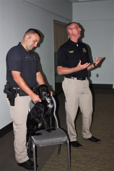 Marine Resources officers have a dog trained to sniff out illegal fish and hidden filets. (Robert DeWitt/Alabama NewsCenter)