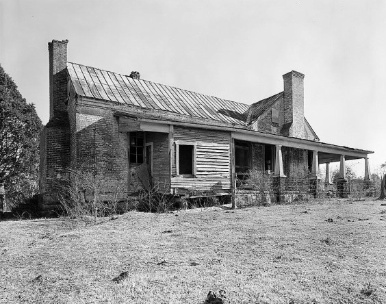 Rather-Rice-Gilchrist House, Bluff City Road vicinity, Somerville, built c. 1820. (HABS, Library of Congress, Prints and Photographs Division)