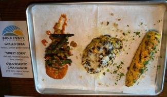 Vegetables are not an afterthought at Back Forty Beer Company-Birmingham. (Michael Tomberlin / Alabama NewsCenter)