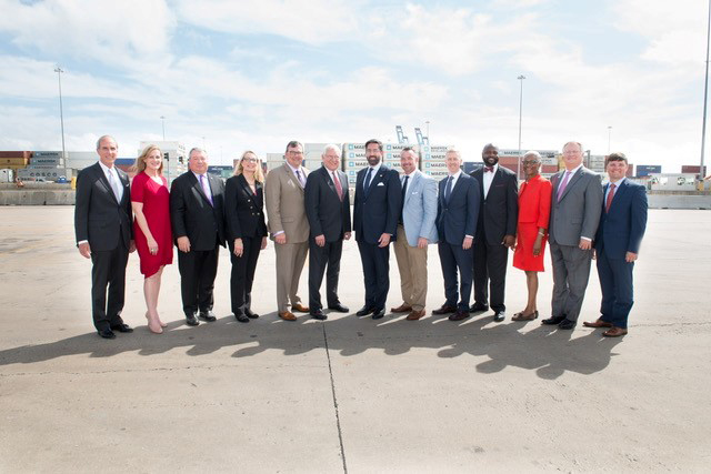 Officials announced the Walmart Import Distribution Center in Mobile, which will create up to 550 jobs. (Mobile Area Chamber of Commerce)