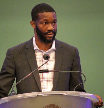 "Birmingham Mayor Randall Woodfin is a self-proclaimed ""club kid"" having grown up at Boys and Girls Club. (Dennis Washington / Alabama NewsCenter)"