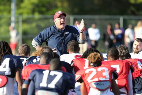Steve Campbell is only the second head coach in South Alabama's decade of playing football, and he's looking to turn the team's fortunes around. (Scott Donaldson)