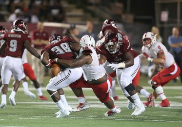 Tyree Turner makes a play for South Alabama in last year's surprise victory over Troy. (Scott Donaldson)