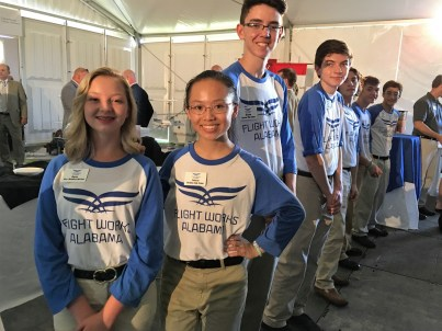 Students attend the construction kickoff for Flight Works Alabama. (Airbus)
