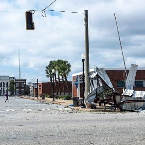 Buildings took a direct hit from the storm. (Wynter Byrd)