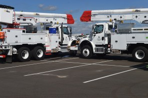 Alabama Power trucks ready for duty in storm restoration. (file)