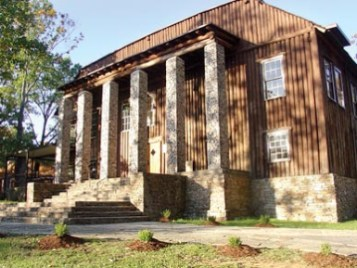 Becker Hall was the original gymnasium of the Kate Duncan Smith DAR School in Grant, Marshall County, built from logs harvested on Grant Mountain. (From Encyclopedia of Alabama, courtesy of Angela C. Otts)