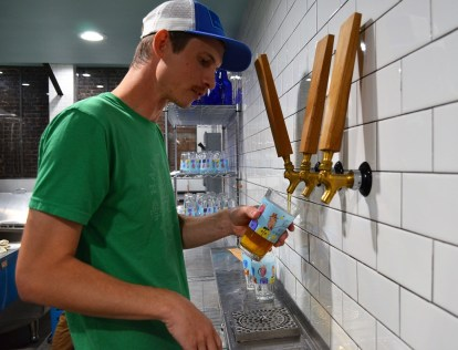 Matt Wheeler, Haint Blue's head brewer, promises a variety of beers will join the Mobile brewery's already-popular IPAs. (Michael Tomberlin/Alabama NewsCenter)