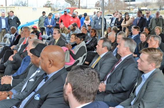 A large audience attended the groundbreaking for the $175 million stadium next to the BJCC. (Michael Tomberlin / Alabama NewsCenter)
