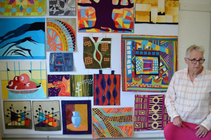 Nancy Goodman creates smaller quilted art pieces that sell easier than her larger pieces, which she enters into national shows. (Michael Tomberlin / Alabama NewsCenter)