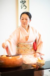 Yamada Sachiko of Chado Urasenke Takokai Birmingham Association presents a Japanese tea ceremony. (Phil Free/Alabama NewsCenter)