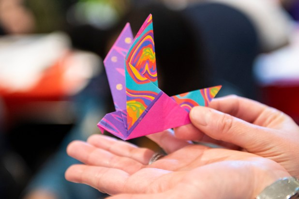 Origami is among the art projects for attendees to try at the Birmingham Museum of Art's Japanese Heritage Festival. (Phil Free/Alabama NewsCenter)