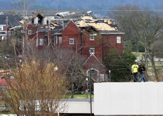 An EF-3 tornado that hit Alabama in March 2018 caused significant damage in Jacksonville. (file)