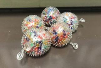 Squeeze balls help keep kids busy. (Donna Cope/Alabama NewsCenter)