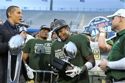 UAB's Spencer Brown was named MVP of the C-USA championship game after rushing for 156 yards and a touchdown on 31 carries. (UAB)