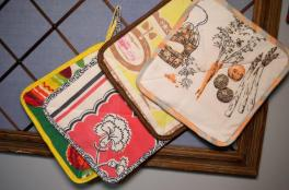 Part of thimbletreestudio's philosophy calls for not wasting any fabric. Even smaller pieces are turned into potholders. (Michael Tomberlin / Alabama NewsCenter)