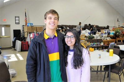 Students Daniel Crifasi and Amy Qazi with Campus Kitchen Project at Auburn University pivoted after the deadly tornadoes to feed survivors and volunteers. (Karim Shamsi-Basha / Alabama NewsCenter)