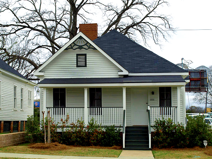 "Famed singer, composer, and musician Nat ""King"" Cole was born in this home in Montgomery, Montgomery County, on March 17, 1919. In 2000, the home was relocated to the campus of Alabama State University, also in Montgomery, and is undergoing restorations. (From Encyclopedia of Alabama, Alabama State University)"