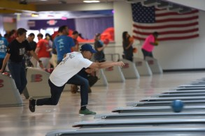 The Chick-fil-A bowling competition drew corporate bowling teams to Vestavia Bowl to test their skills. (Wynter Byrd/Alabama NewsCenter)