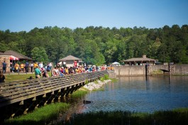 Exceptional Anglers make memories at the annual Gone Fishin' Not Just Wishin' event at Oak Mountain State Park. (Phil Free/Alabama NewsCenter)