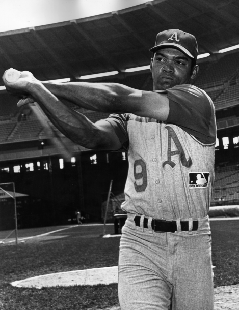 Reggie Jackson of the Oakland Athletics. (Photo by Hulton Archive/Getty Images)