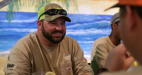 Heith Hase and his co-workers on his Alabama Power line crew are like a family, he says. (Joe Allen/Alabama NewsCenter)