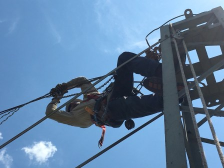 Alabama Power linemen have to keep safety a constant priority to protect themselves and their co-workers. (contributed)