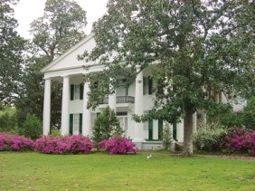 Magnolia Grove is a Greek Revival house, built c. 1840 in Greensboro; known for being the home of Spanish-American War hero Richmond Pearson Hobson. (From Encyclopedia of Alabama, courtesy of Alabama Tourism Department)