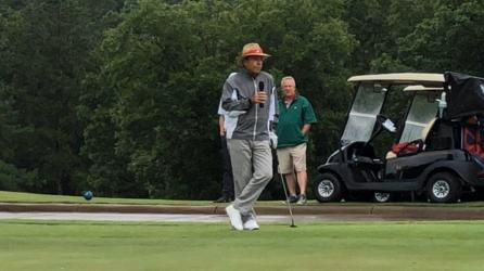 Nick Saban hosted the annual Nick's Kids Golf Tournament June 6 at Old Overton Club in Birmingham. (Dennis Washington / Alabama NewsCenter)