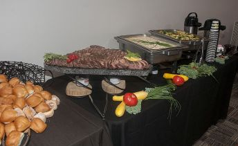 Lunch is served at the AABE scholarship event. (Billy Brown)