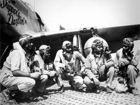 Tuskegee Airmen of the elite, all-African American 332nd Fighter Group at Ramitelli, Italy. (U.S. Air Force, Wikipedia)