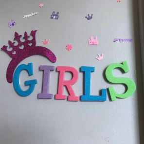 Girls' lockers are decorated at Urban Ministry. (Keisa Sharpe)