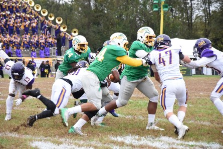 Austin Stephens (47) is a preseason defensive player of the year in the SIAC. (Miles College Athletics)