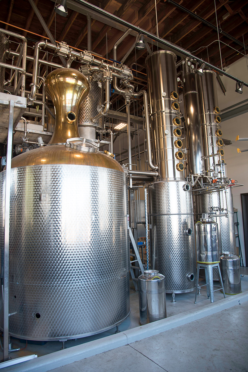 Dread River Distilling Co. includes a German still brought to Birmingham from Carlton White, a distiller previously located in North Carolina. (Brittany Faush / Alabama NewsCenter)