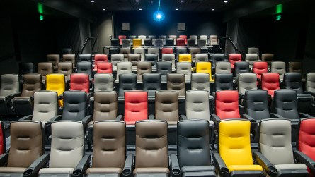 The new Sidewalk Film Center and Cinema features two 89-seat movie theaters. (Dennis Washington / Alabama NewsCenter)