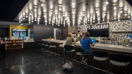 The new Sidewalk Film Center and Cinema features a large bar and concession stand. (Dennis Washington / Alabama NewsCenter)